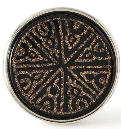 Chunk Samarra Material:  Metall und Knochen Farbe: schwarz-gold Bedeutung: Dieses Muster symbolisiert die historischen Fundstücke im alten Samara, einer irakischen Stadt, und steht für einen ausgeprägten kreativen Sinn.