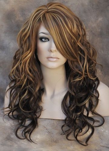 blonde on dark hair - Google Search