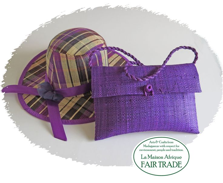 Fair Trade bags with matching hats - find them at La Maison Afrique #FAIRTRADE stand B10:41 at #Formex #Stockholm 24-27 August 2016. #sustainablefashion #crafts