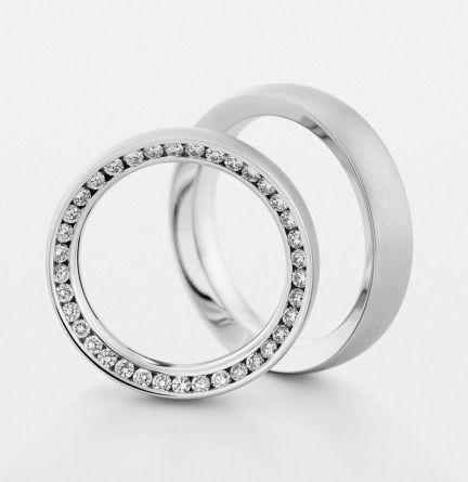 Обручальные кольца Christian Bauer из белого золота с бриллиантами