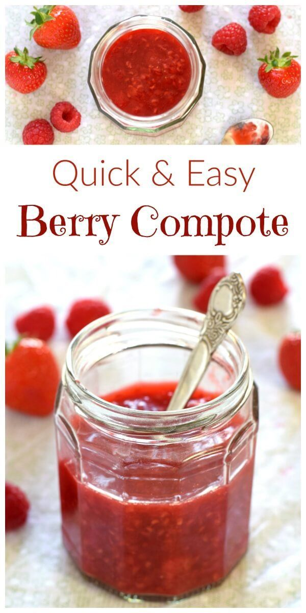 How to make a quick and easy berry compote - just 4 ingredients - great for breakfast parfaits and desserts too - Eats Amazing UK