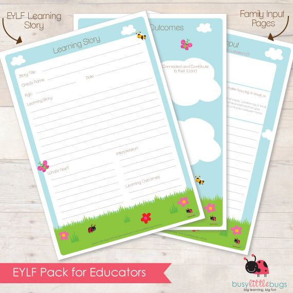 EYLF pack for Educators Documentation Pages
