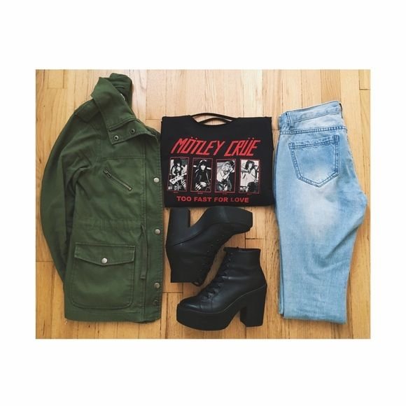 Mötley Crüe 'Too Fast For Love' merch Cut-off style top from Motley Crue with Too Fast For Love inspired design and horizontal slash details on the back.As always PayPal, swaps/trades are not accepted. Price listed is firm.➿ Vintage Tops Sweatshirts & Hoodies