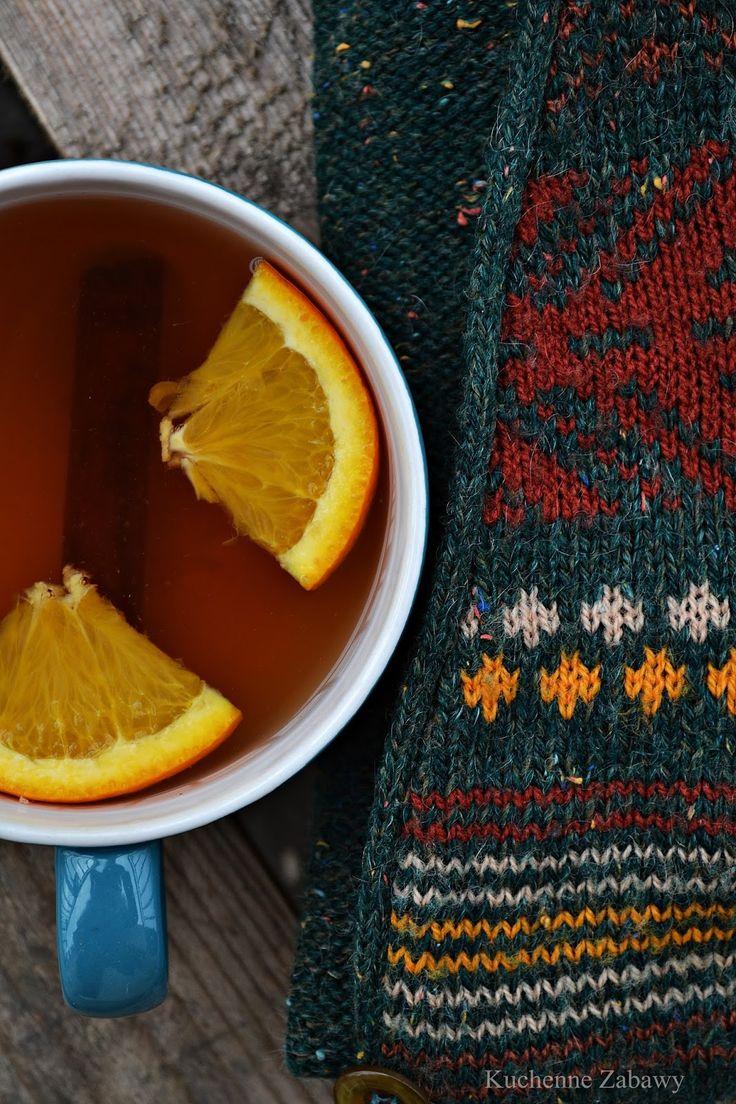 Śliwka, imbir, cynamon, pomarańcza- Herbata idealna