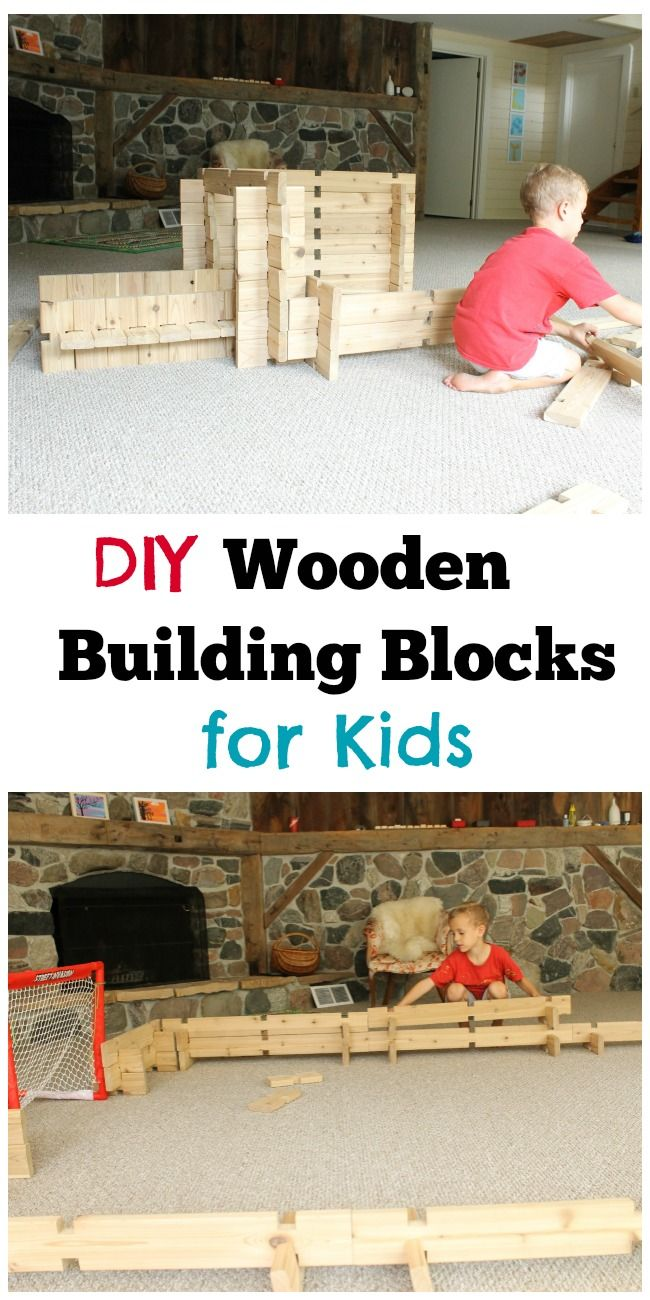 These DIY wooden building blocks for kids are the best toy for imagination and can be used for so many fun play ideas