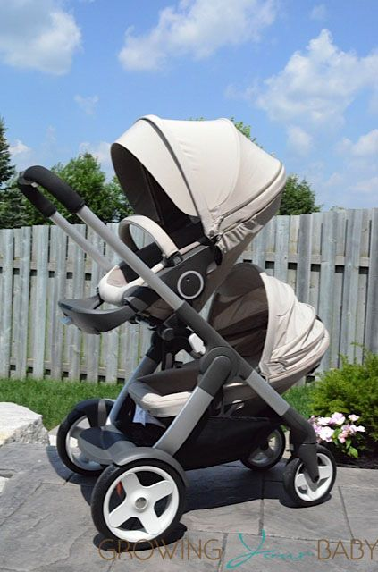 Double the fun with Stokke Crusi Stroller! Pictured w/ Sibling Seat Solution
