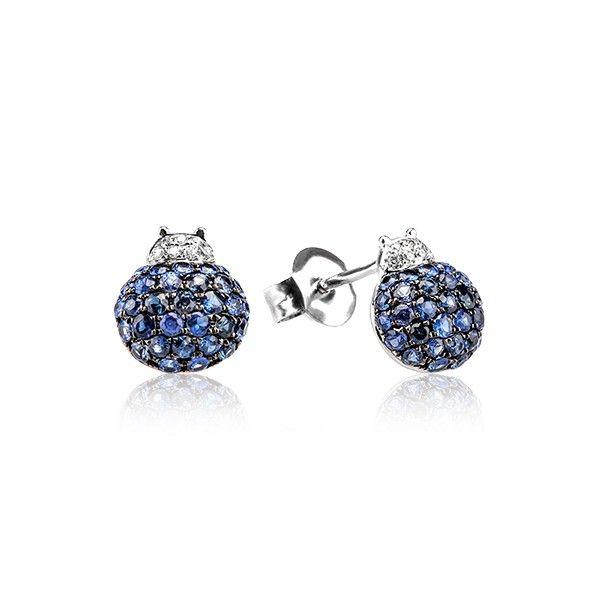 Cercei safire si diamante DCGV00077 ‐ Bijuteria Teilor