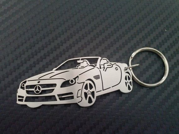 Mercedes Cabrio Personalized Key Chain by GuestFromThePast on Etsy
