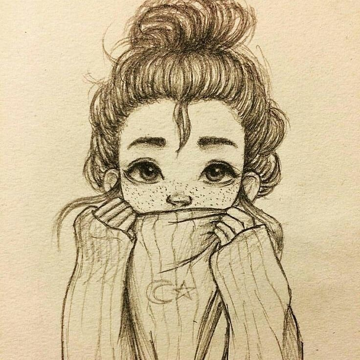 Adorable Good And Just Boiling With Imagination Girl Drawing Sketches Cool Art Drawings Art Sketches