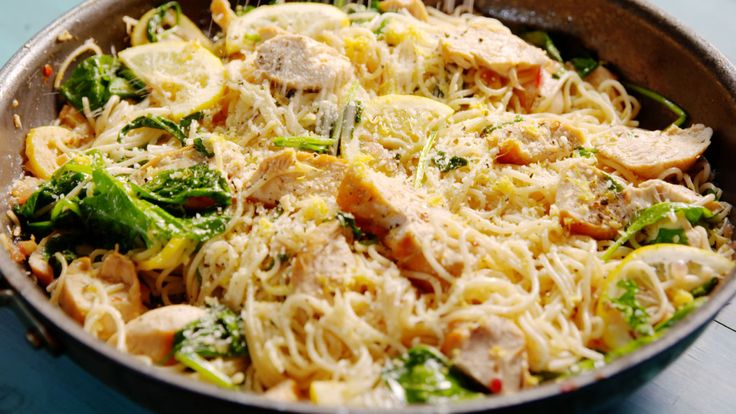 Lemon Butter Chicken Pasta  - Delish.com