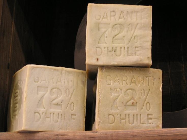 Olive oil soap blocks.