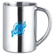 9 Oz. Stainless Steel Camp Mug9 Oz. Stainless Steel Camp Mug. Made from double wall stainless steel for insulation and durability. Its sleek and sophisticated design combined with high quality manufacturing makes the Camp Mug perfect for the outdoors or restaurant settings.