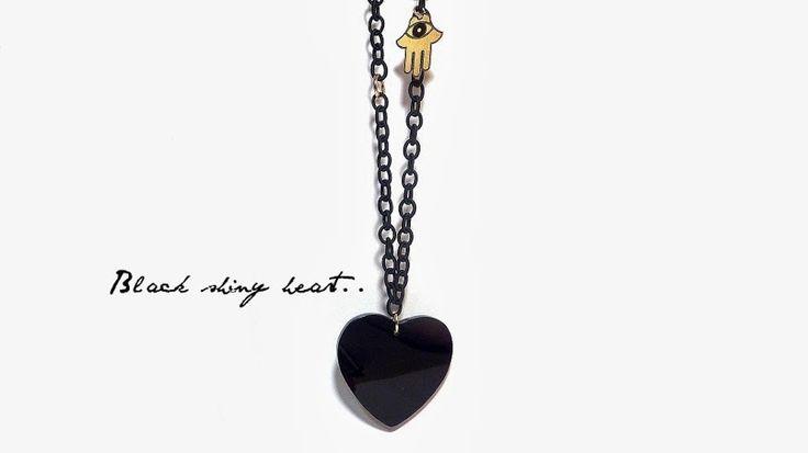 Black heart & Hamsa hand!