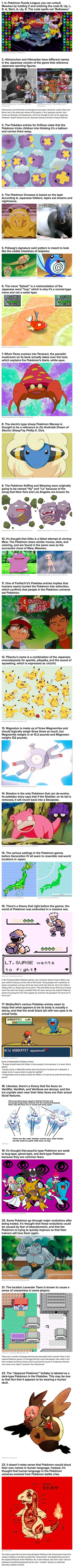 """Pokemon fans rejoice! Here are some interesting facts you may not have known about the franchise."" Some I knew, some I did not."