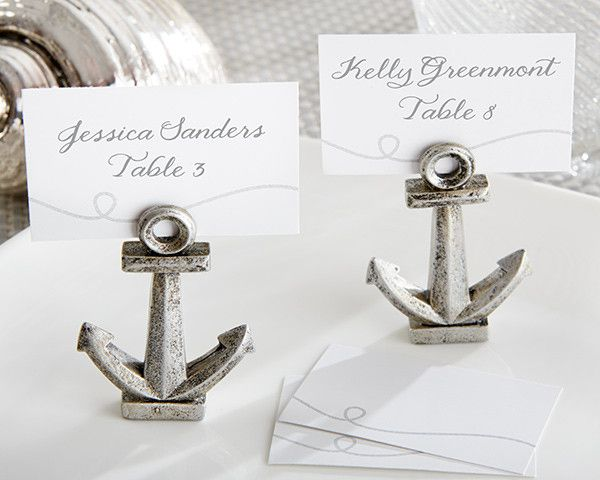 Nautical Anchor Place Card / Photo Holders - Set of 6