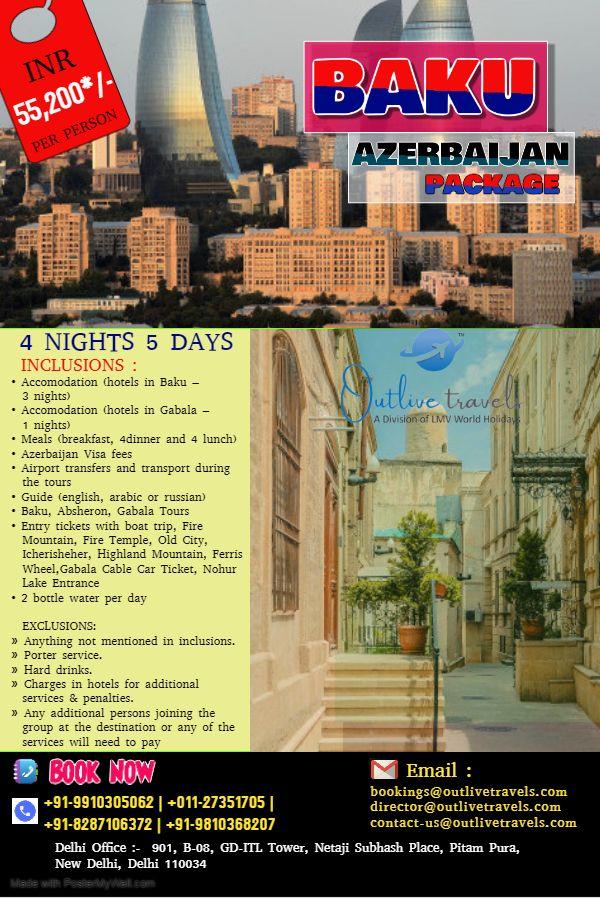 Azerbaijan Baku Absheron Gabala Tufandag Tour 4 Nights 5 Days 3 Nights Baku 1 Nights Gabala Tours Boat Trips Tour Guide