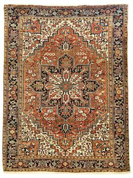 Most famous of Persian Semi-Tribal rugs. Superb bold geometric pattern exceptionally sturdy rugs. Fine wool pile / organic dyes.