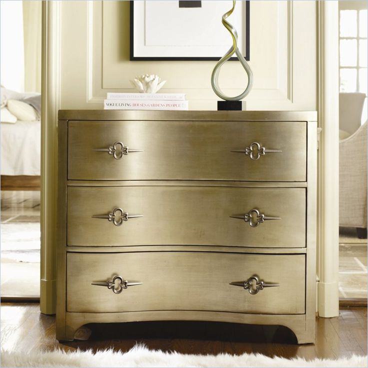 Hooker Furniture Sanctuary Three Drawer Shaped Front Gold
