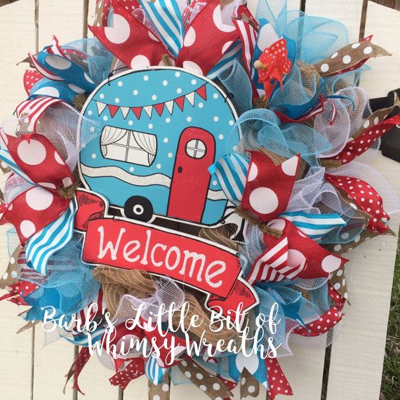 Welcome Camper Wreath Camper Wreath by lilbitofwhimsywreath