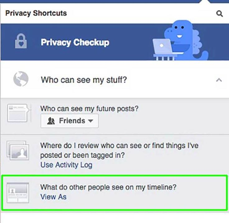 Here's something you can quickly do right now to see what the world at large can view on your Facebook Profile. #facebook #privacy