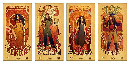 Set of four Firefly posters