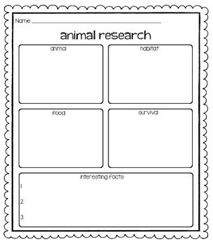 3 animal research printables - a graphic organizer about the animal's life; a draw and write; and a writing piece where students pretend to be the animal.