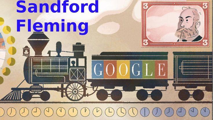Sandford Fleming Google Doodle.  Worldwide Standard Time Zones proposed ...