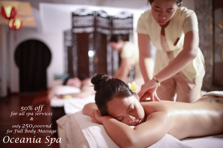 BIG PROMOTION FROM OCEANIA SPA Discount 50% for all spa services Only 250,000vnd for Full Body Massage (60mns) Hurry up! Don't miss it! For more information, please contact: Hotline: 08 3914 4645 Email: sales@romanaresort.com.vn #romana #spa #promotion