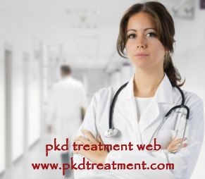 Patient: I have a cyst on my left kidney which is 4.2 cm, how dangerous is it? I feel tired and my stomach is swelled, but the doctor didn't give me any treatment for my disease. How to treat it the kidney cyst and stomach swelling? Please help me.