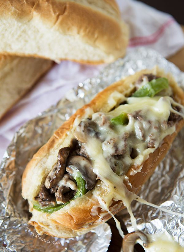 Cheesesteak Sandwiches - ooey gooey cheesesteak with some ridiculously soft bread!