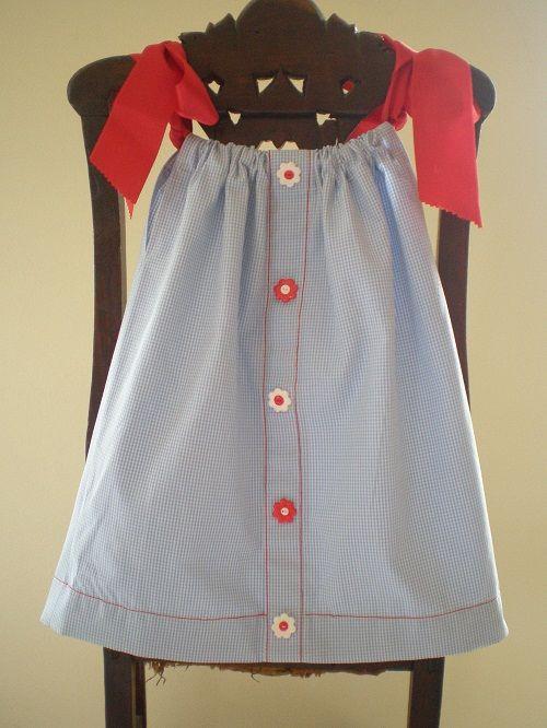 Pillowcase dress made of a man shirt with fimo buttons and reb satin ribbon & 75 best Men´s dress shirt makeover images on Pinterest | Shirts ... pillowsntoast.com