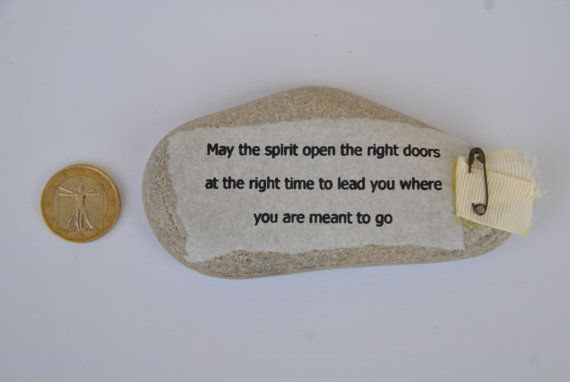 paperweight stone with aphorism may the spirit di comivishop