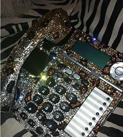 bling leopard print phone