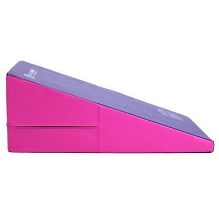 Incline Gymnastics Mat Training Foam Triangle Gym Tumbling Wedge Pink And Purple - Walmart.com