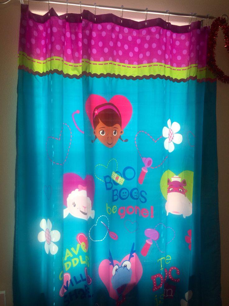 Doc Mcstuffins Shower Curtain As A Curtain