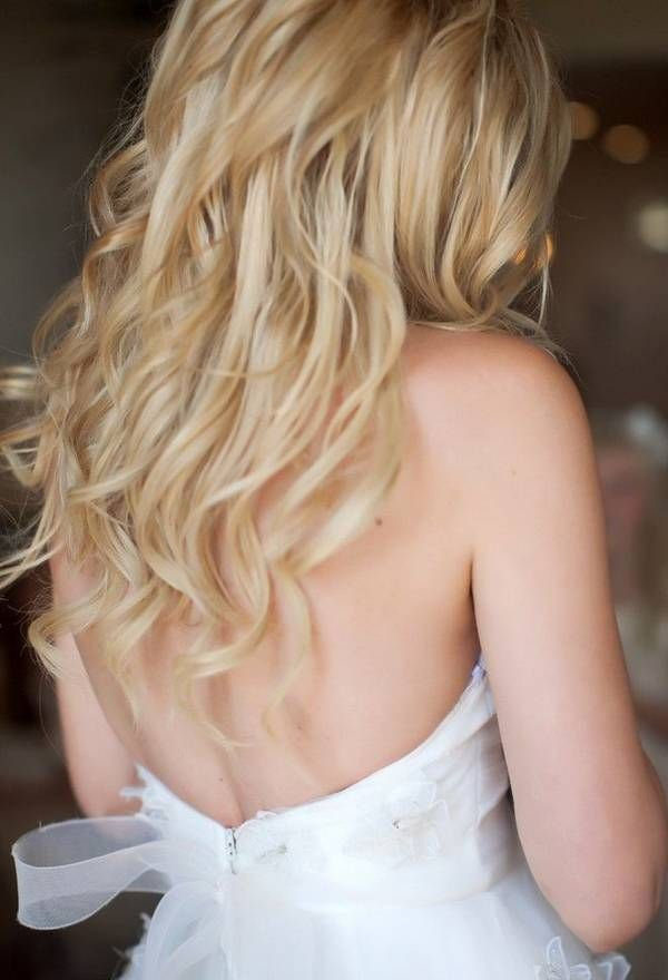 Wedding Hairstyle In Gorgeous Long Wavy Look #prom hair