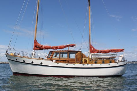 "J N Miller & Son 45 ft Ketch ""Fifer"" Motor Sailer 1979 for Sale. (Last boat owned was similar to this one only it was 50'.  Moved it from Lake Washington to Port Ludlow on the Olympic Peninsula across from Seattle.  Travels included Friday Harbor, Victoria and Vancouver B.C."