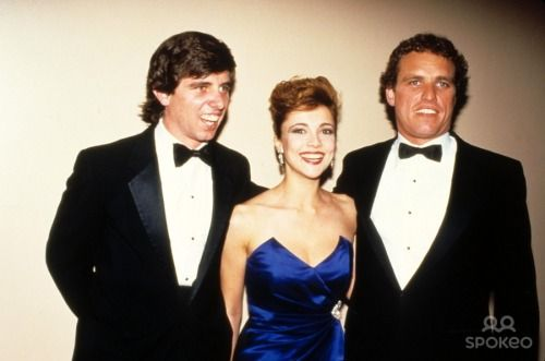 Michael Kennedy, actress Emma Samms and Joe Kennedy II