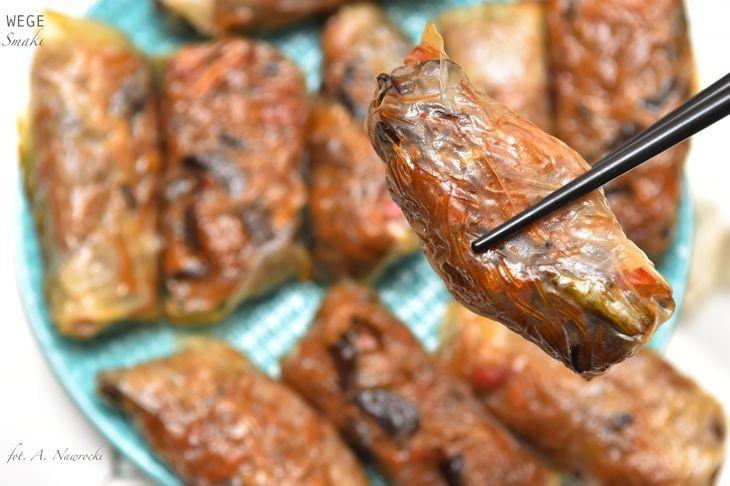 Pieczone sajgonki wegetariańskie