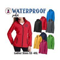 Monogrammed Wind & Waterproof Ladies' RAIN JACKET  - 1 or 2 Monograms - FREE SHIP