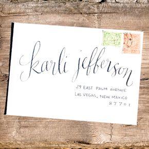 envelope calligraphy   Taryn Eklund