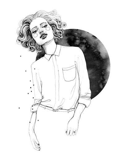 Fashion illustration - chic fashion drawing // Silke Werzinger