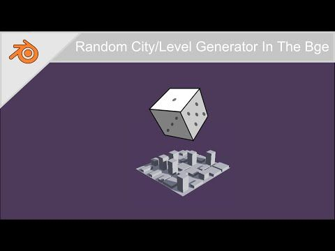 Random City Generator - Bge Tutorial - YouTube