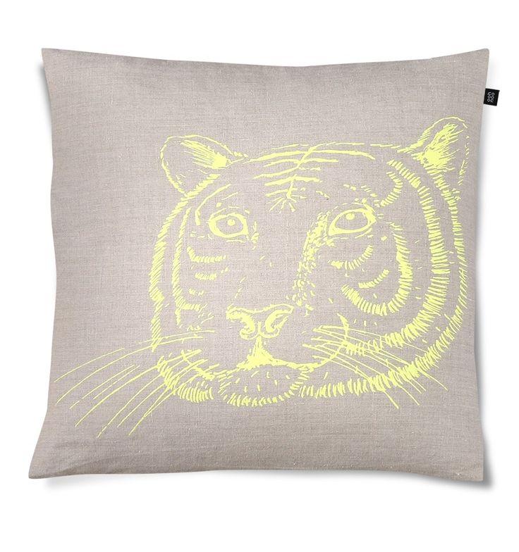 Tiger in the bush cushion