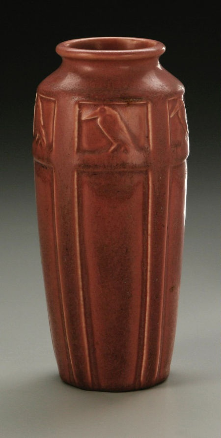 AN AMERICAN POTTERY VASE   Rookwood, 1920  I love this piece because it has a raven on it
