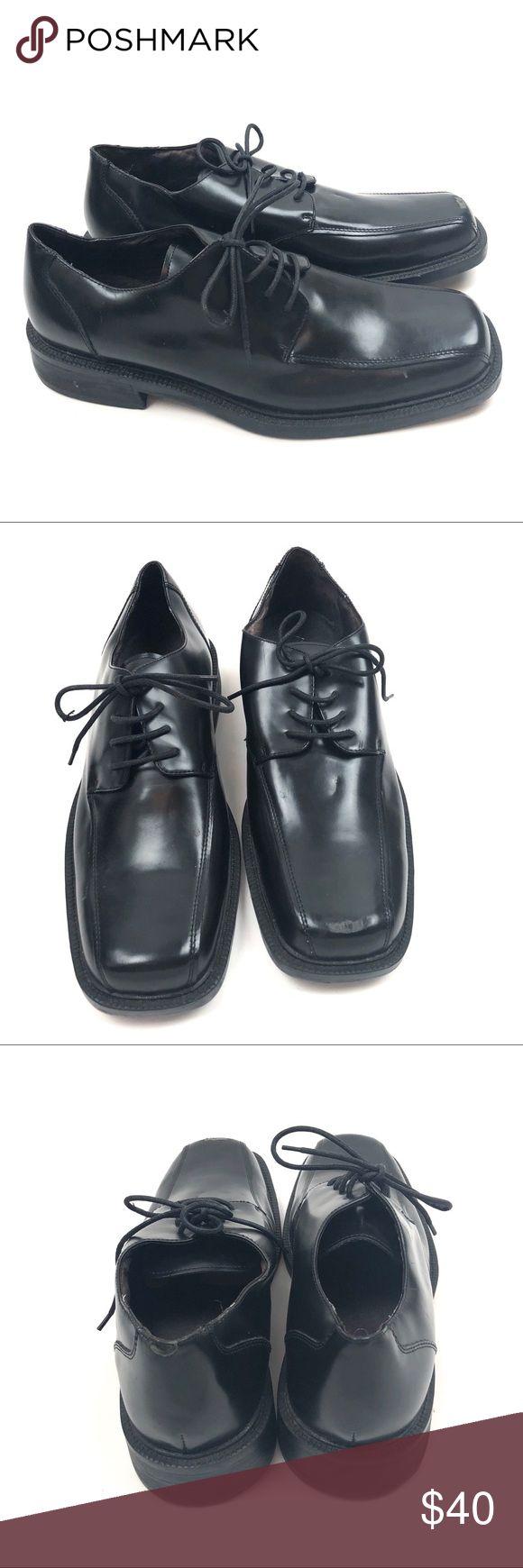 Aldo Mens Black Leather Dress Shoes Size 12 Aldo Mens Black Leather Dress Shoes Size 12  Condition: Excellent pre-owned condition. Aldo Shoes Oxfords & Derbys