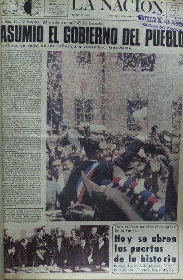 4 de noviembre de 1970, con la asunción de Salvador Allende como Presidente de Chile La Nación
