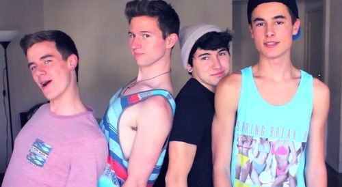 connor franta, ricky dillon, jc caylen, kian lawley- 4/6 of our second life