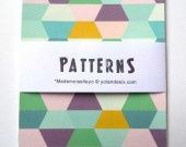 Lot de 4 cartes patterns géométrique : Cartes par mademoiselleyo - 4€