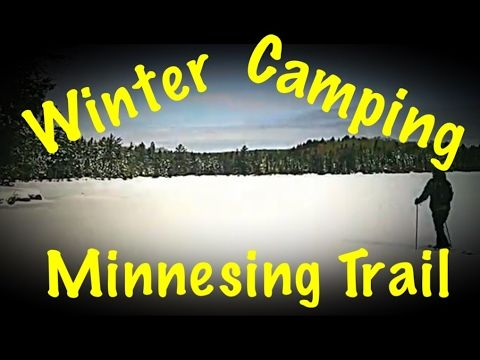 Winter Camping Algonquin Provincial Park January 2017 Hot Tent and Hammock - YouTube